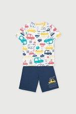 Пижама(Весна-Лето)+boys (цветные машинки, темно-синий)