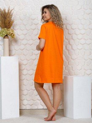 """035 Платье домашнее """"Персик"""""""