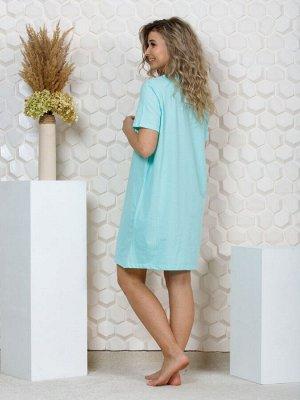 """035 Платье домашнее """"Голубой"""""""
