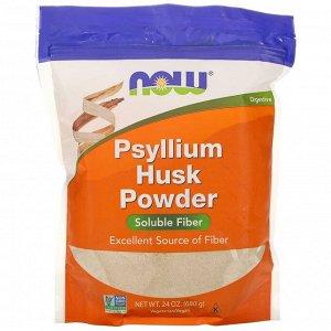 Now Foods, порошок из шелухи семян подорожника, 680 г (1,5 фунта)