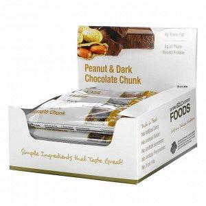 California Gold Nutrition, Foods, батончики с арахисом и кусочками черного шоколада, 12 штук, 40 г (1,4 унции) каждый