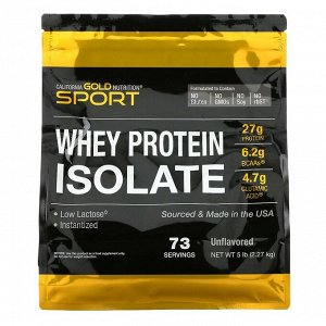 California Gold Nutrition, 100-ный изолят сывороточного протеина без добавок, 2,27 кг (5 фунтов)