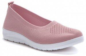 Балетки (тапочки, розовый текстиль женские туфли)