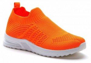 417025/01-04 оранжевый текстиль женские полуботинки (В-Л 2021)