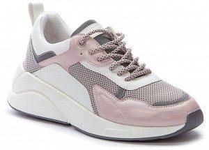 817122/02-05E розовый/серый иск.кожа/текстиль женские полуботинки (В-Л 2021)