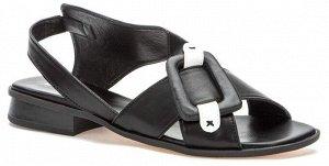 807278/02-01 черный иск.кожа женские туфли открытые (В-Л 2021)