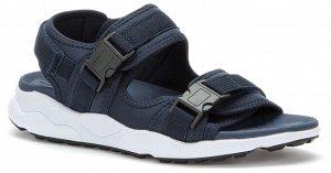 синий текстиль мужские туфли открытые