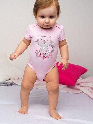 Боди Состав: 100% хлопок  Цвет: белый, светло-розовый, розовый  Год: 2021 *Боди для девочки с коротким рукавом, 2 шт. в сете *100% хлопок *кнопки на плече для комфортного переодевания ребенка *зас