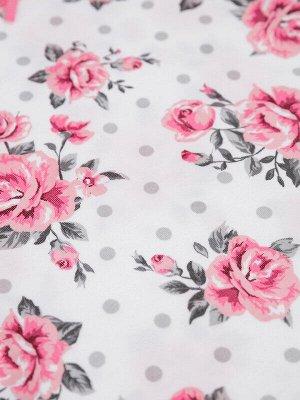 Комплект Состав: 100% хлопок  Цвет: розовый, белый  Год: 2021 *Комплект: футболка и леггинсы *плотная мягкая ткань из 100% хлопка *сохранение внешнего вида даже после многочисленных стирок *кнопки