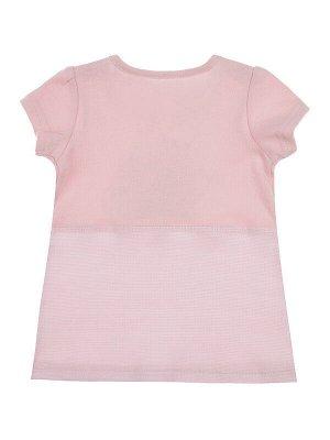 Комплект Состав: 100% хлопок  Цвет: светло-розовый  Год: 2021 *Комплект: футболка и леггинсы *плотная мягкая ткань из 100% хлопка *сохранение внешнего вида даже после многочисленных стирок *кнопки