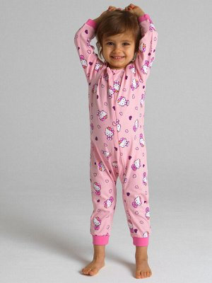Пижама Состав: 95% хлопок, 5% эластан  Цвет: розовый  Год: 2021 *Комбинезон трикотажный *застежка на молнию *высокое содержание хлопка 95% *благодаря наличию эластана в составе ткани изделие держи