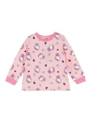 Пижама Состав: 95% хлопок, 5% эластан  Цвет: розовый  Год: 2021 *Комплект: лонгслив, брюки *из качественного эластичного и приятного на ощупь трикотажа *высокое содержание хлопка 95% *благодаря на