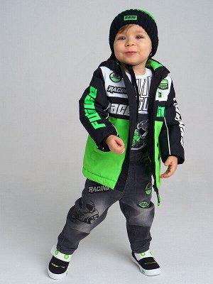 Куртка Состав: Верх- 100% полиэстер, Покрытие- 100% полиуретан, Подкладка- 100% полиэстер, Наполнитель- 100% полиэстер, 150 г/м2 Цвет: зеленый, черный, белый Год: 2021 *Куртка демисезонная *ткань ве