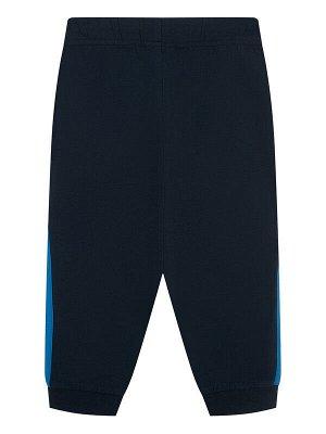 Комплект Состав: 95% хлопок, 5% эластан  Цвет: синий, тёмно-синий  Год: 2021 *Комплект: футболка с принтом Disney, брюки *из качественного эластичного и приятного на ощупь трикотажа джерси *высокое