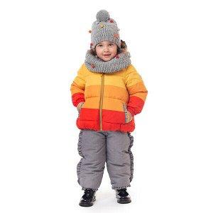 Куртка Состав: Верх- 100% полиэстер, Подкладка- 80% хлопок, 20% полиэстер, Утеплитель- 100% полиэстер, 260 г Цвет: жёлтый, оранжевый, красный Год: 2021 Как важно выбрать детскую куртку правильно! Эта