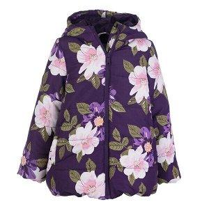 Куртка Состав: Верх- 100% полиэстер, Подкладка- 60% полиэстер, 40% хлопок, Наполнитель- 100% полиэстер, 200 г/м2 Цвет: фиолетовый, белый, розовый, светло-розовый, зеленый Год: 2021 Демисезонная куртка