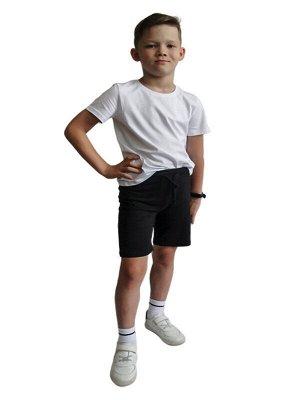 Комплект Состав: 100% Хлопок  Сезон: Лето  Цвет: Белый, Чёрный  Год: 2021 Футболка-крой прямой, вырез горловины округлый неглубокий, рукава короткие. Цвет- белый, однотонный, без декора и принтов. Шор