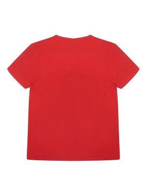 Комплект Состав: 95% хлопок, 5% эластан  Цвет: темно-серый, красный  Год: 2021 *Комплект: футболка, шорты *из качественного эластичного и приятного на ощупь трикотажа джерси *высокое содержание хло