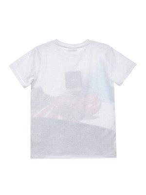 Комплект Состав: 95% хлопок, 5% эластан  Цвет: белый, серый  Год: 2021 *Комплект: футболка, брюки *из качественного эластичного и приятного на ощупь трикотажа джерси *высокое содержание хлопка 95%