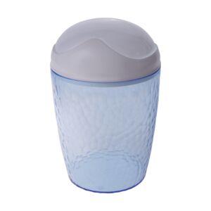 Контейнер для мусора, настольный, 1 л, с крышкой, пластик, голубой, NATURAL STONE, 1/22