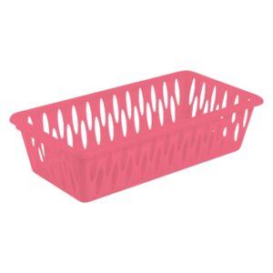 Корзинка, пластик, красный коралл, LIGHT XS, 5 х 19,5 х 10 см, 1/50