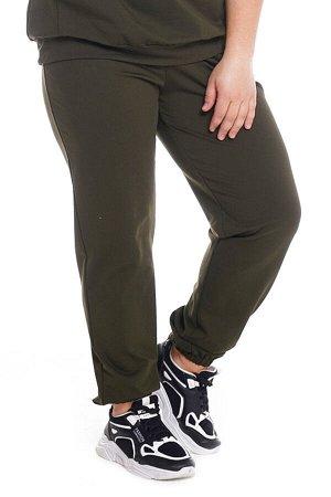Брюки-4715 Модель брюк: Спортивные; Материал: Трикотаж;   Фасон: Брюки; Параметры модели: Рост 168 см, Размер 54 Брюки спортивные трикотажные хаки Универсальные и невероятно комфортные брюки из мягког