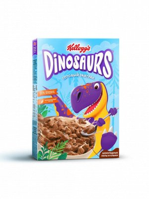 """Шоколадные лапы и клыки из злаков 220гр кор """"Dinosaurs"""", шт"""