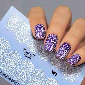 Fashion Nails, Слайдер дизайн White-3