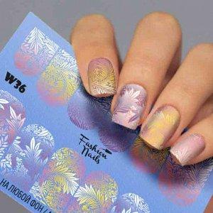 Fashion Nails, Слайдер дизайн White-36