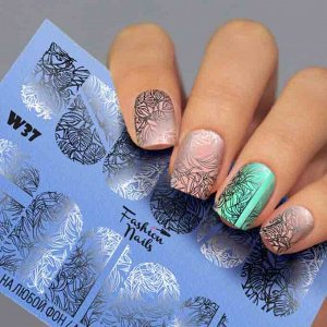 Fashion Nails, Слайдер дизайн White-37