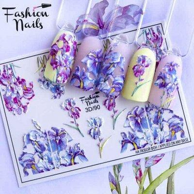 💅Маникюрный рай - гель-лаки, аксессуары, дизайн. Новинки! — Слайдер-дизайны (цветы) — Дизайн ногтей