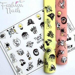 Fashion Nails, Слайдер дизайн 3D-118