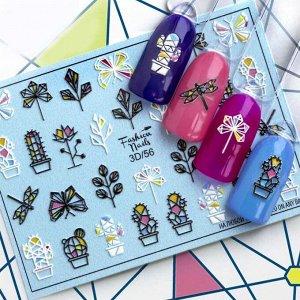 Fashion Nails, Слайдер дизайн 3D-56