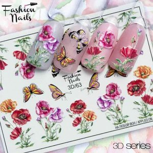Fashion Nails, Слайдер дизайн 3D-63