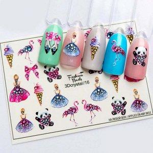 Fashion Nails, Слайдер дизайн 3Dcrystal-16