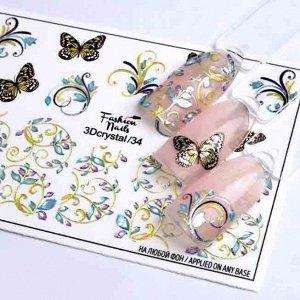 Fashion Nails, Слайдер дизайн 3Dcrystal-34