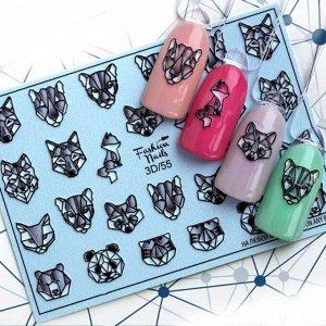 Fashion Nails, Слайдер дизайн 3D-55