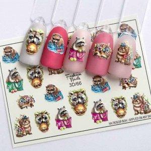 Fashion Nails, Слайдер дизайн 3D-66