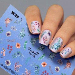 Fashion Nails, Слайдер дизайн White-48