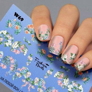 Fashion Nails, Слайдер дизайн White-69