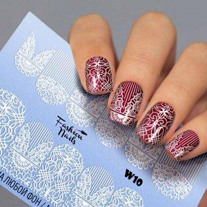 Fashion Nails, Слайдер дизайн White-10