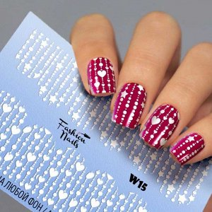 Fashion Nails, Слайдер дизайн White-15