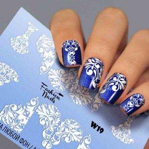 Fashion Nails, Слайдер дизайн White-19