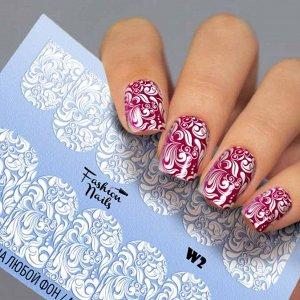 Fashion Nails, Слайдер дизайн White-2