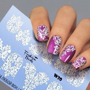 Fashion Nails, Слайдер дизайн White-20