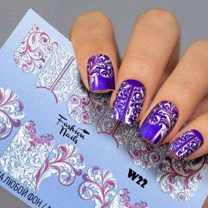Fashion Nails, Слайдер дизайн White-22