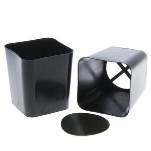 Стакан для рассады, 500 мл, с выдвижным дном, пластик, черный, АНГАРСК, 1/150