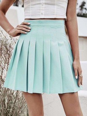 Однотонная плиссированная юбка
