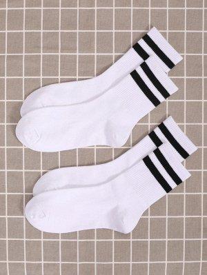 2 пары носки в полоску