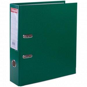 """Папка-регистратор Esselte """"Economy"""", 75мм, полипропилен, нижний метал. кант, зеленая"""